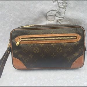 Auth LOUIS VUITTON MARLY DRAGONNE Clutch
